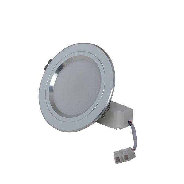 Đèn LED Âm trần Downlight Đổi màu 7W Viền Bạc
