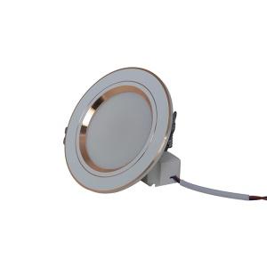 Đèn LED Âm trần Downlight Đổi màu 7W Viền Vàng