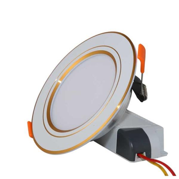 Đèn LED Âm trần Downlight 90.7W (Viền Vàng)
